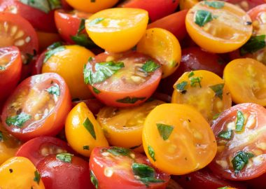 Marinated Cherry Tomatoes with Fresh Herbs