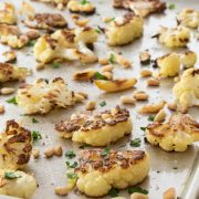 Roasted Cauliflower with Garlic and Pine Nuts