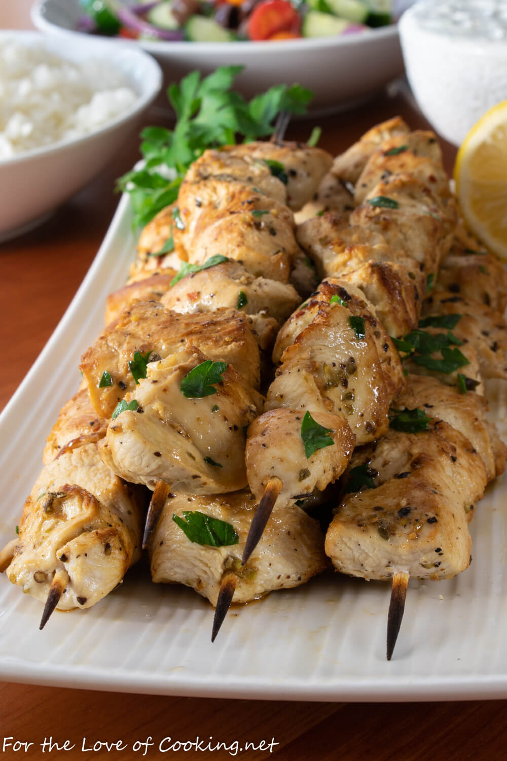 Chicken Souvlaki For The Love Of Cooking