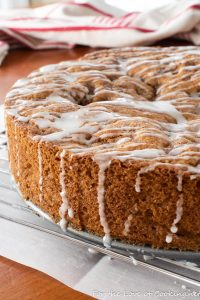 Glazed Cinnamon Apple Cake