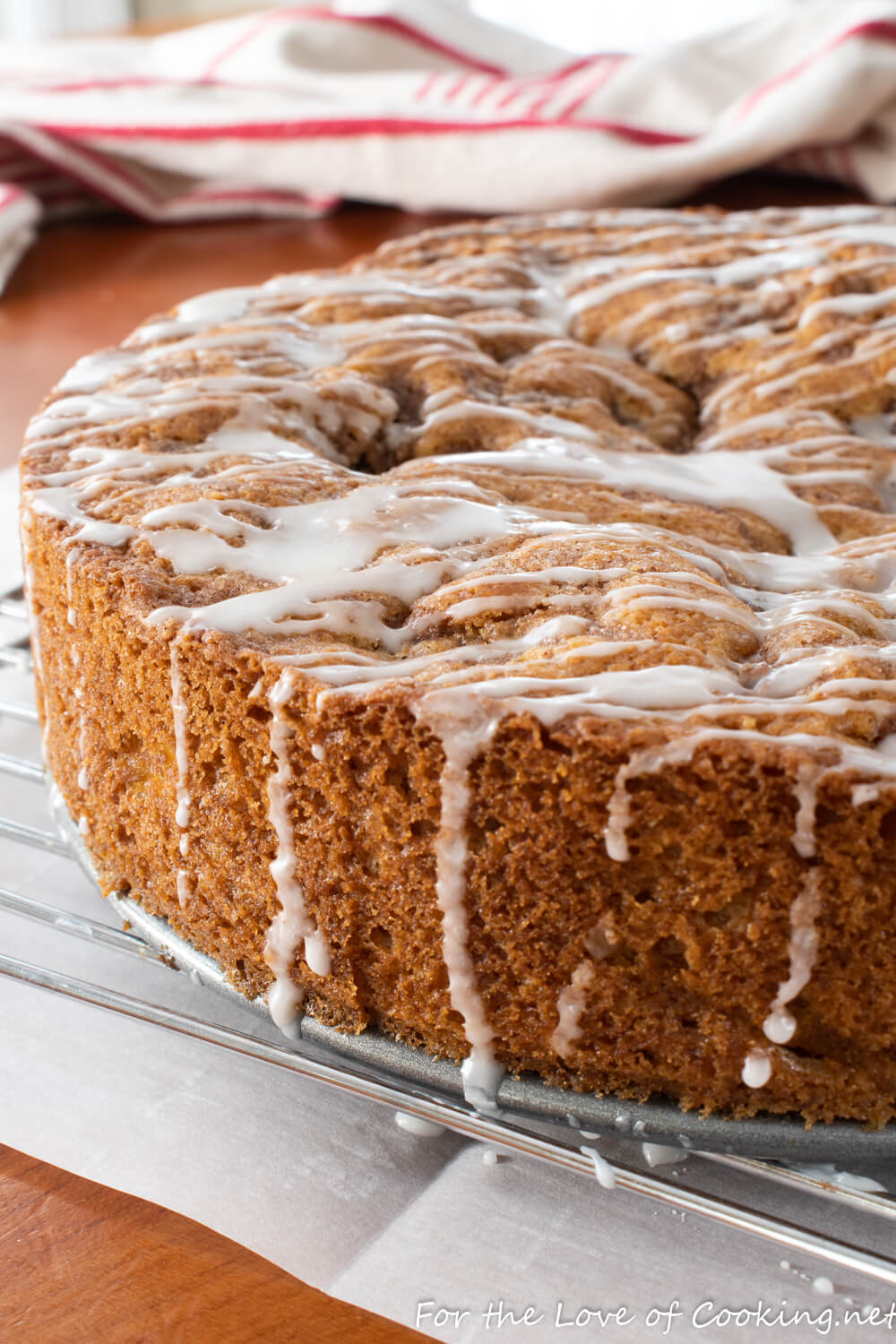 Glazed Cinnamon Apple Cake