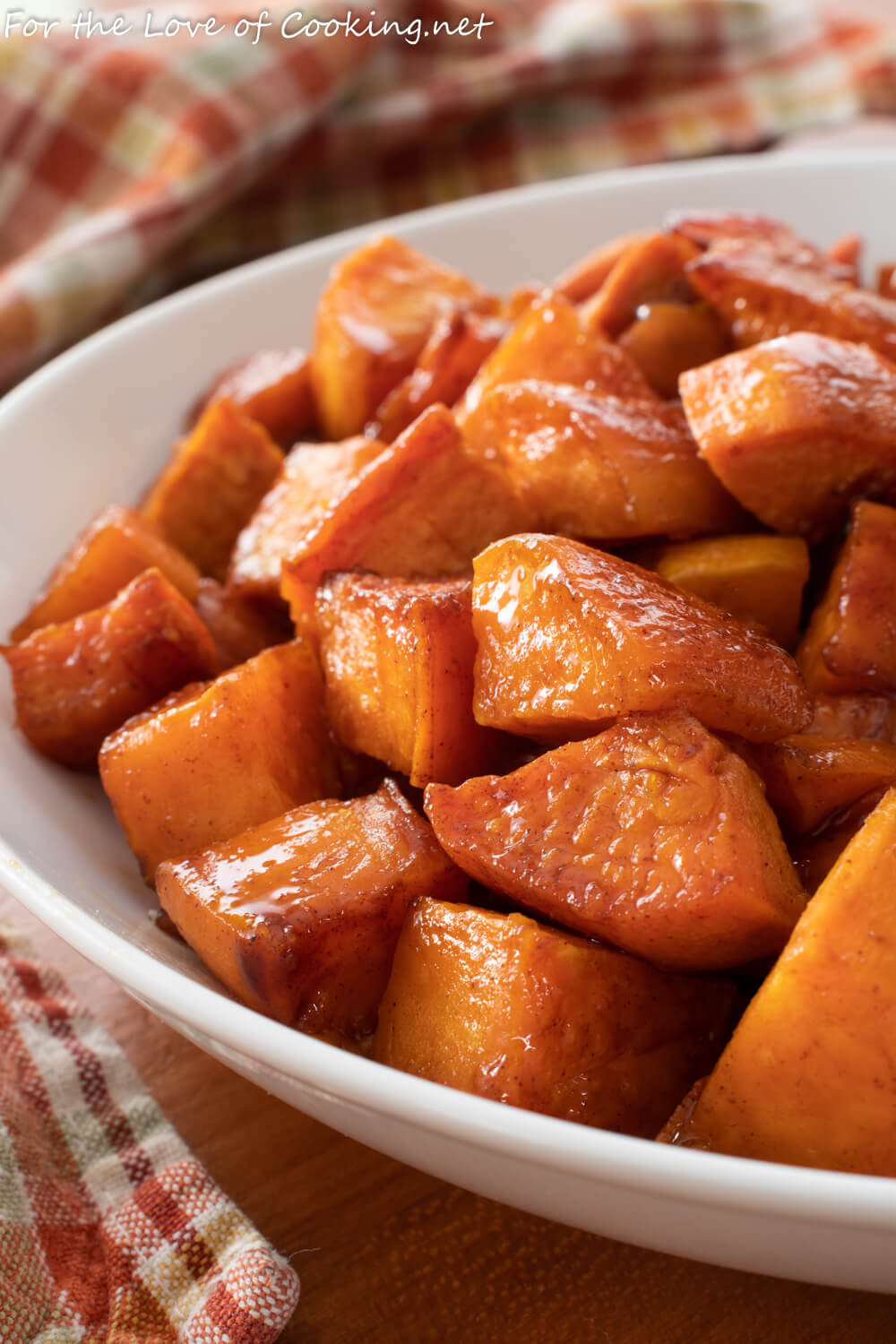 Honey Butter Roasted Sweet Potatoes with Cinnamon