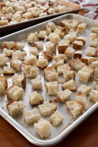 Homemade Bread Cubes for Stuffing