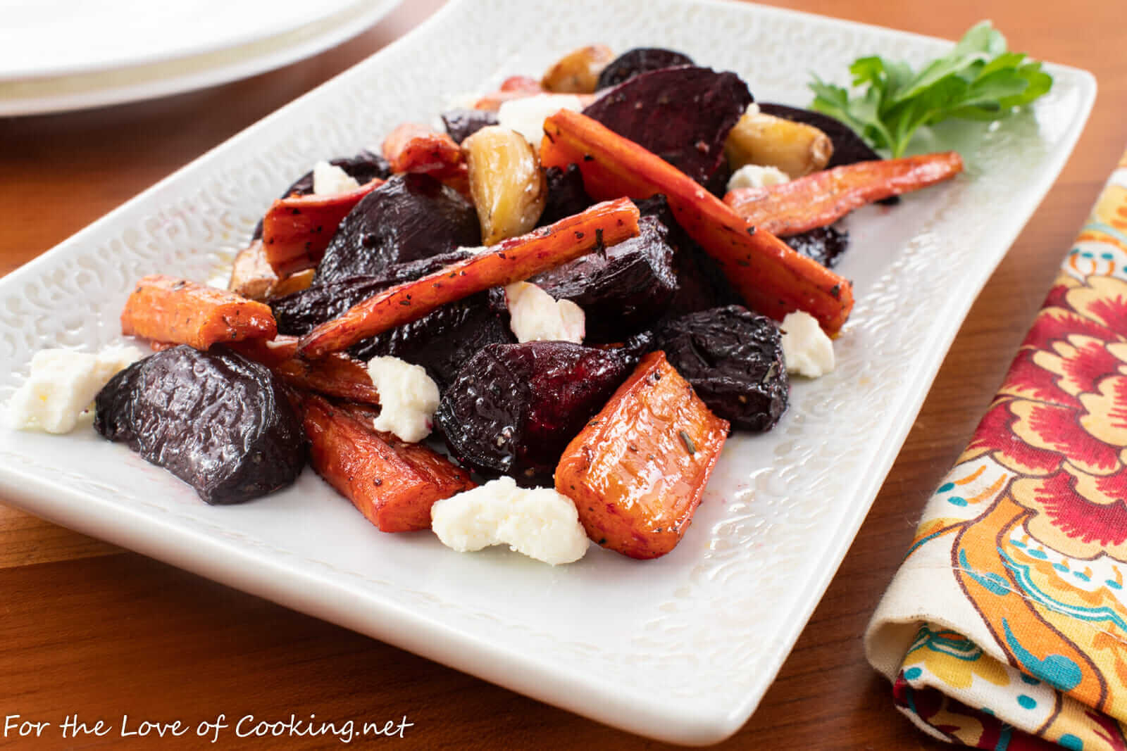 Roasted Beets and Carrots with Feta