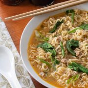 Spicy Pork Ramen with Bok Choy & Ginger