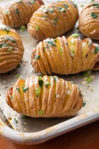 Baby Hasselback Potatoes with Herb Garlic Butter