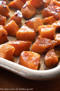 Maple Brown Butter Roasted Sweet Potatoes