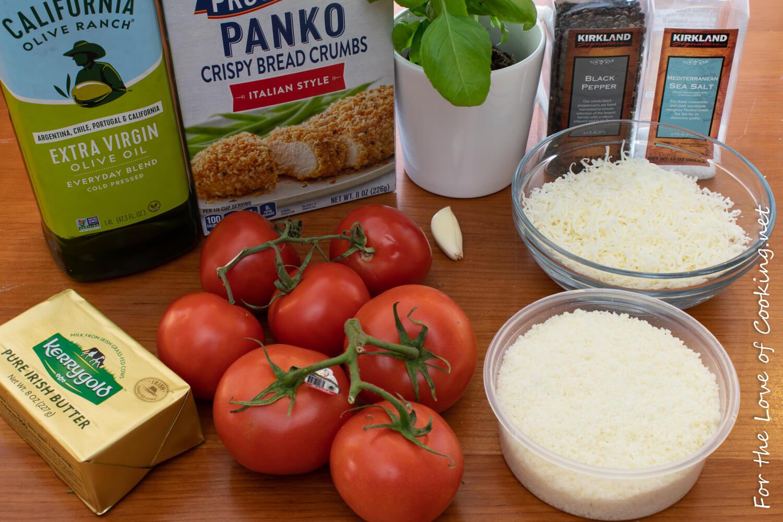 Mozzarella and Basil Stuffed Tomatoes