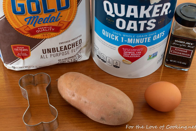 Sweet Potato and Oatmeal Dog Treats