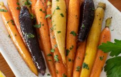Brown Butter-Maple Glazed Heirloom Carrots