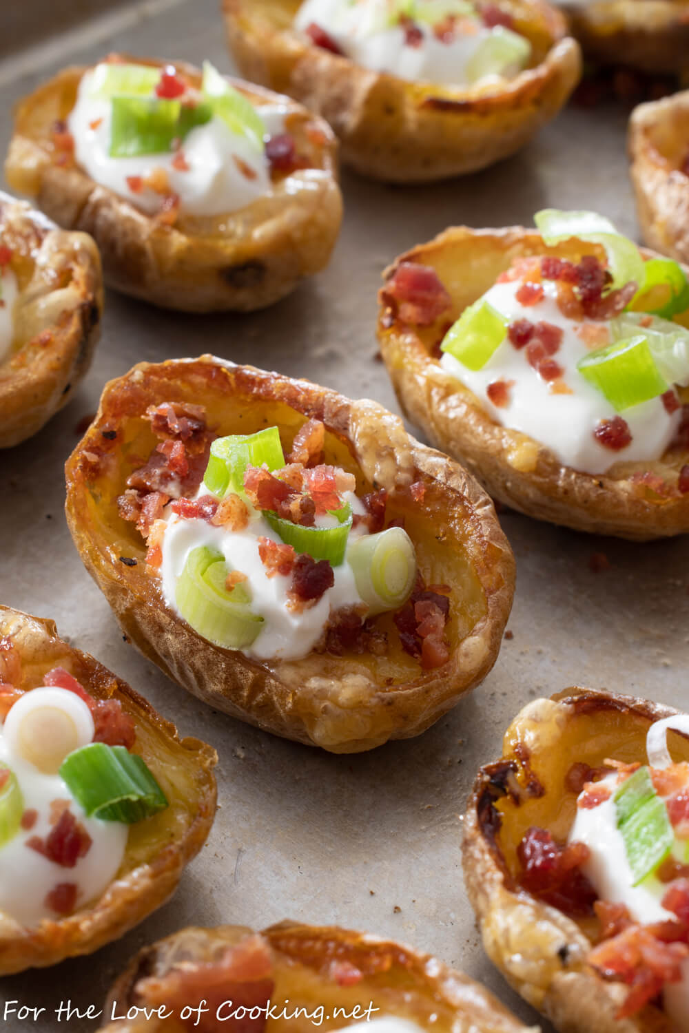 Mini Potato Skins For The Love Of Cooking