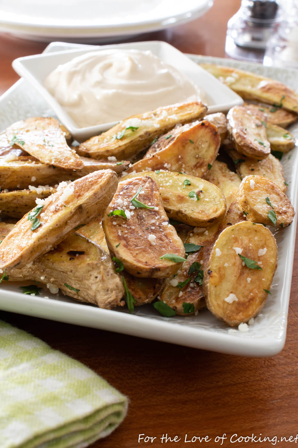 Roasted Fingerling Potatoes with Soy-Garlic Aioli
