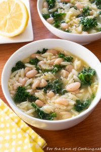 Spicy Kale, White Bean, and Orzo Soup