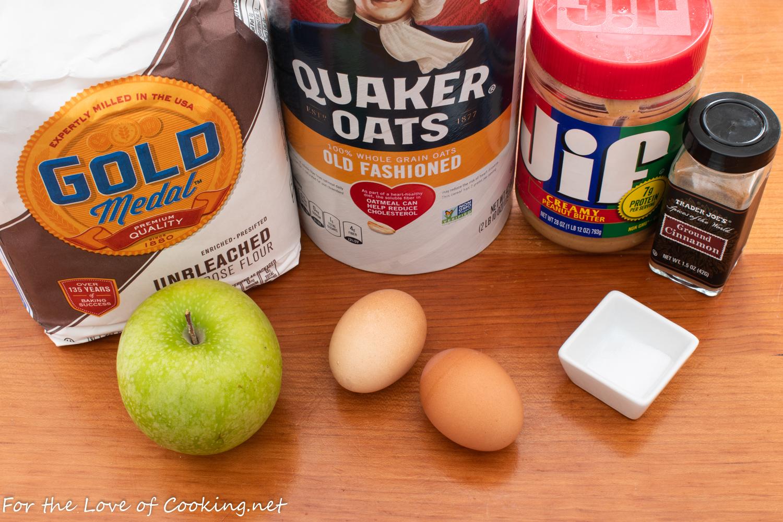Apple and Peanut Butter Dog Treats