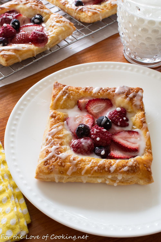 Glazed Triple Berry Tartlets