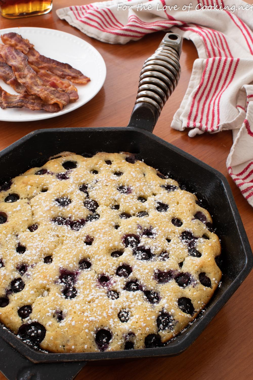 Oven-Baked Blueberry Pancake