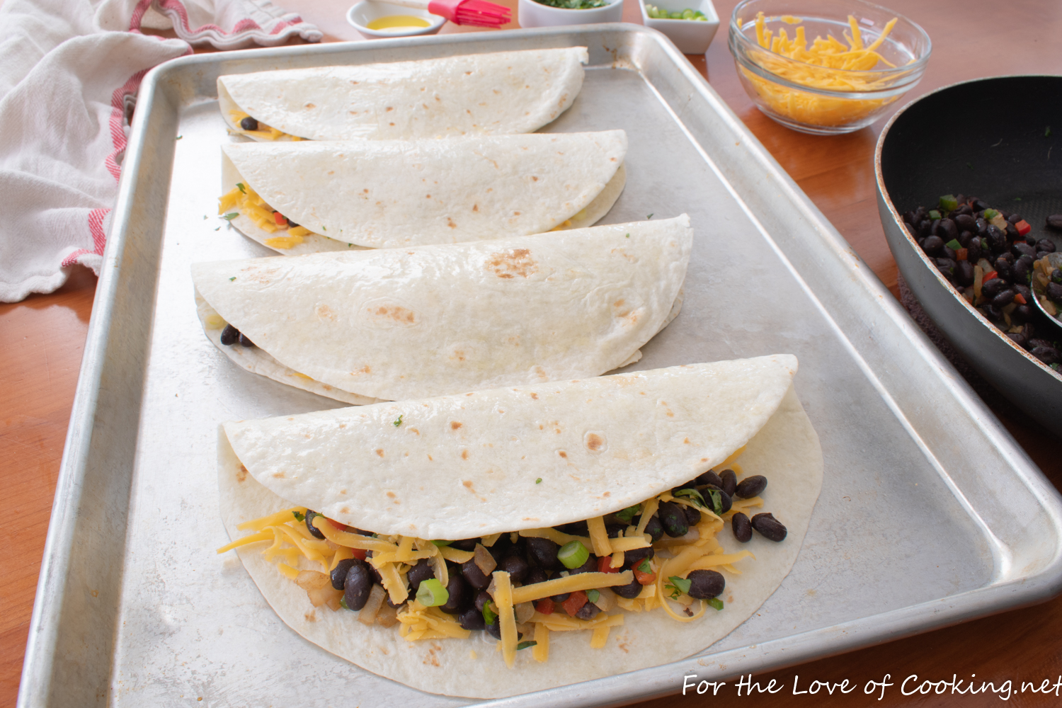 Baked Black Bean and Cheese Quesadillas