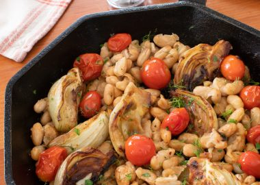 Roasted Fennel, Tomatoes, and White Beans