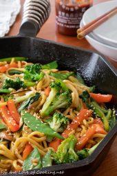 Vegetarian Yakisoba Noodles