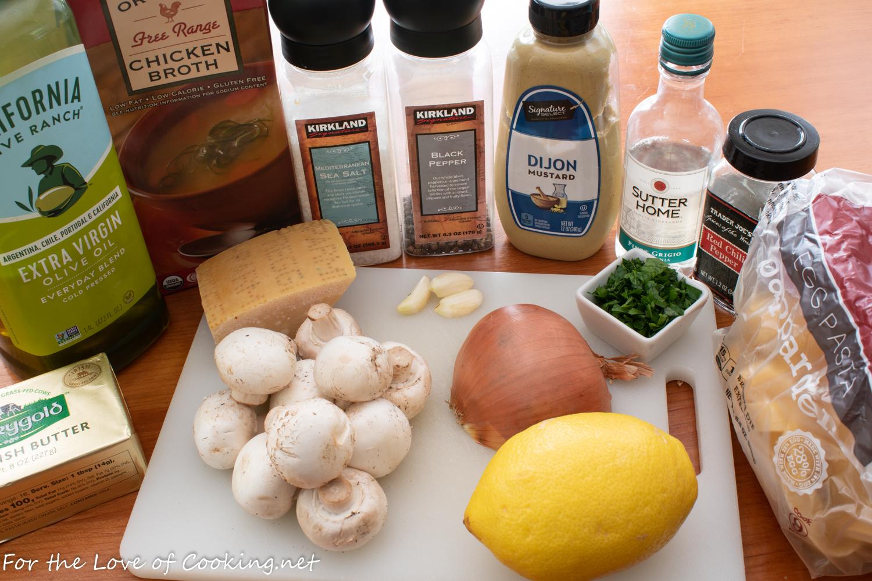 Garlic Mushroom Pappardelle