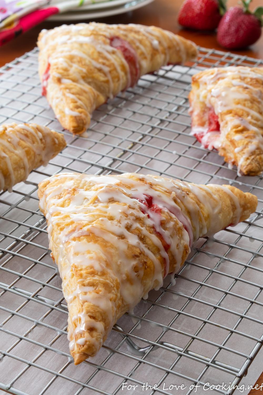 Glazed Strawberry Turnovers