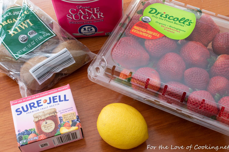 Strawberry Kiwi Freezer Jam