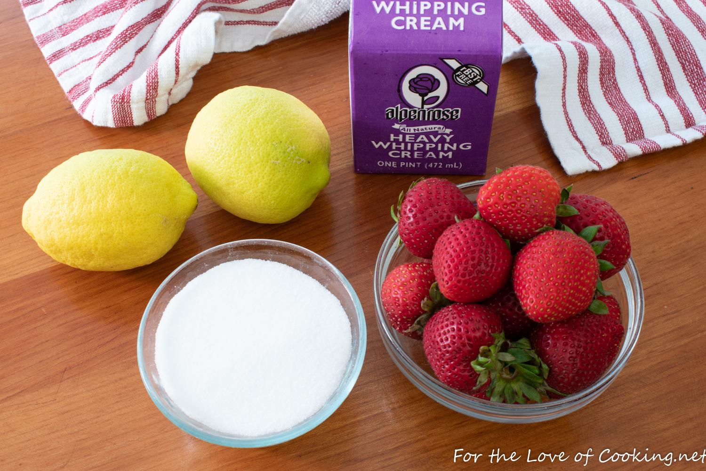 Lemon Posset with Strawberry Sauce