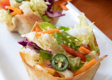 Thai Salad Wonton Cups
