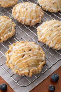 Blueberry Hand Pies with Lemon Glaze