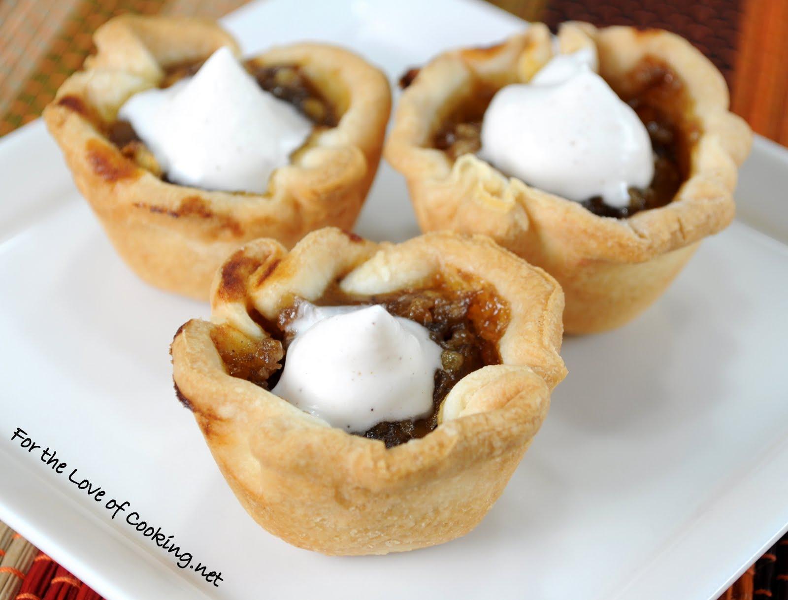 Mini Pumpkin Tartlets with Homemade Cinnamon Whipped Cream