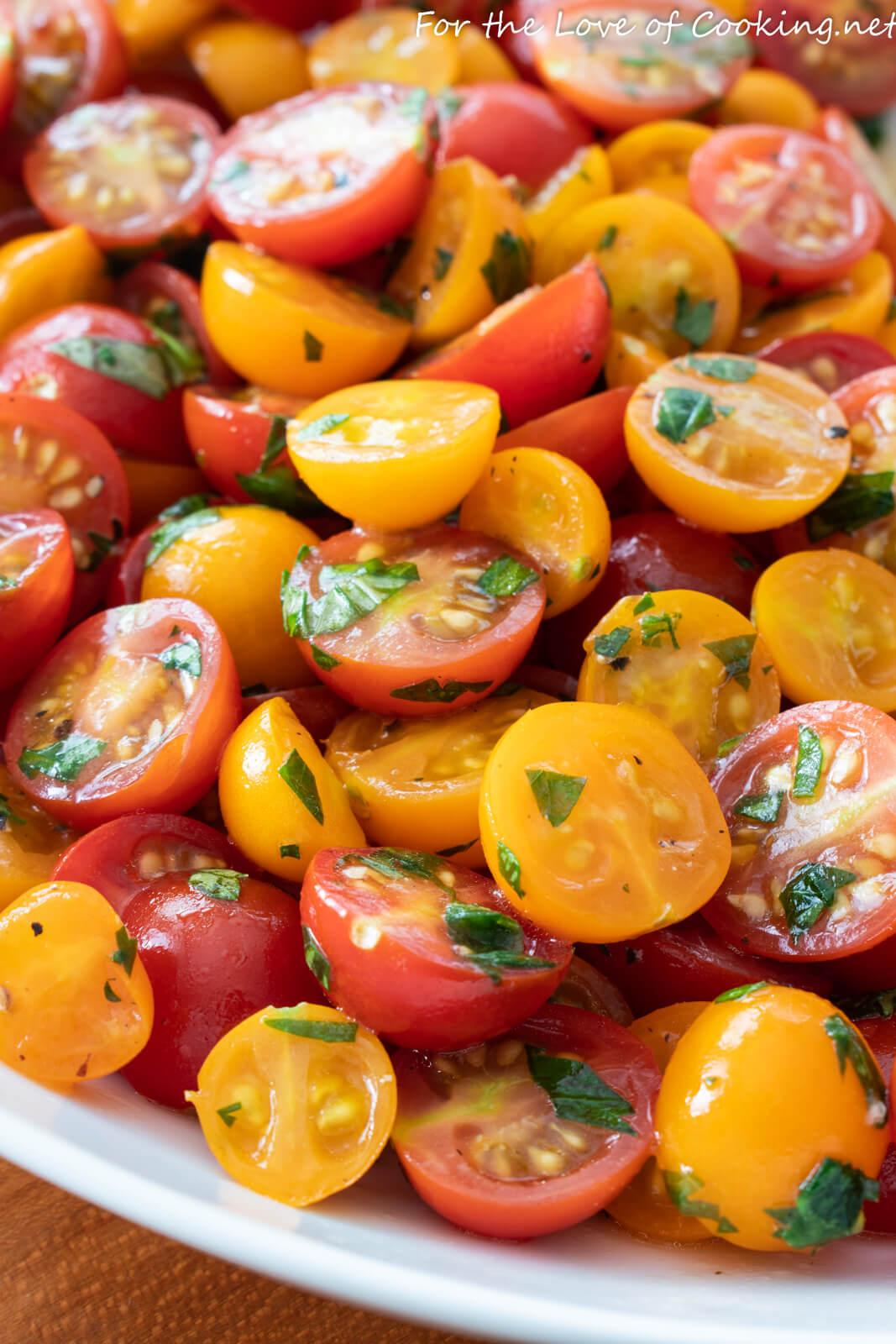 Marinated Cherry Tomatoes with Fresh Herbs