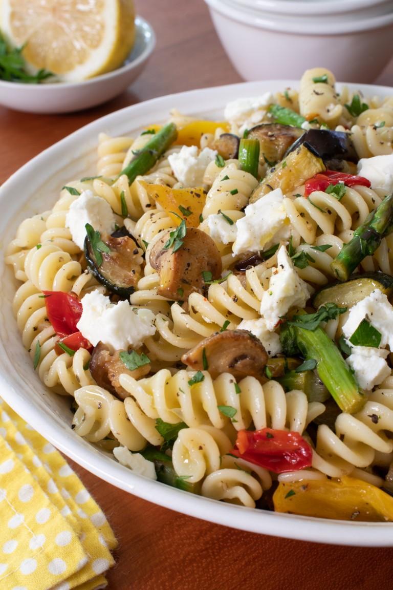Marinated Roasted Vegetable Pasta Salad