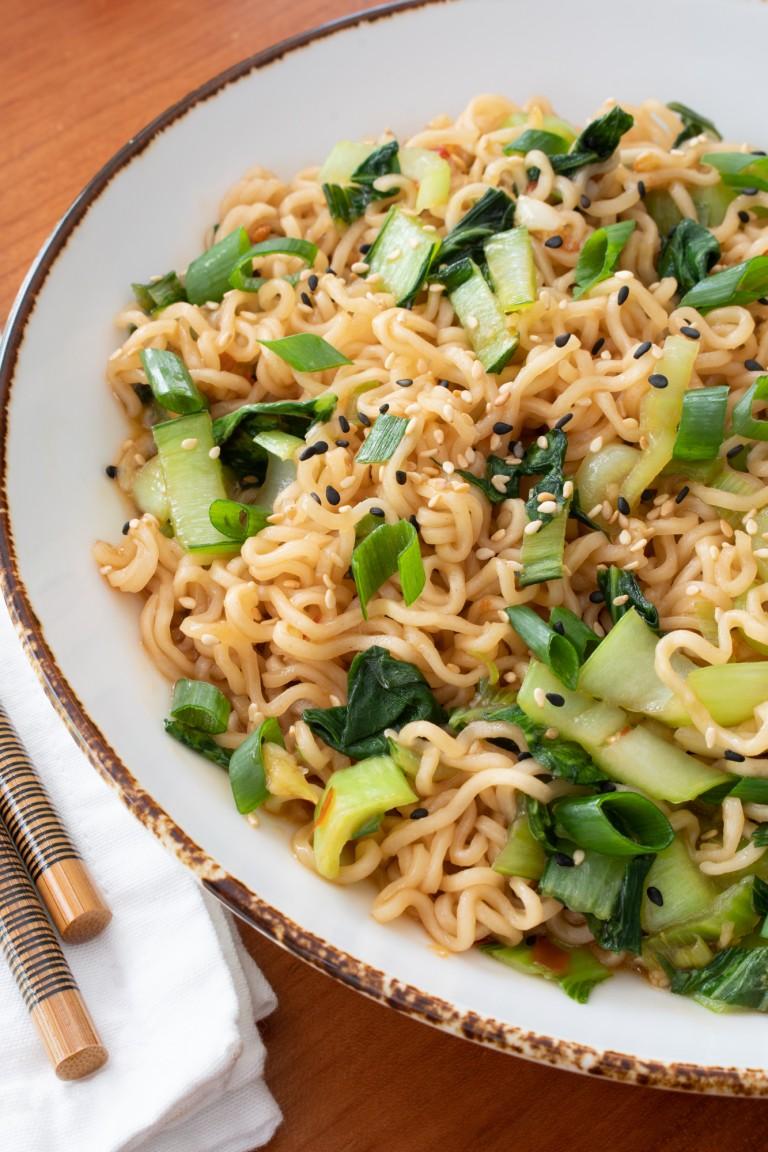 Noodle Stir Fry with Bok Choy