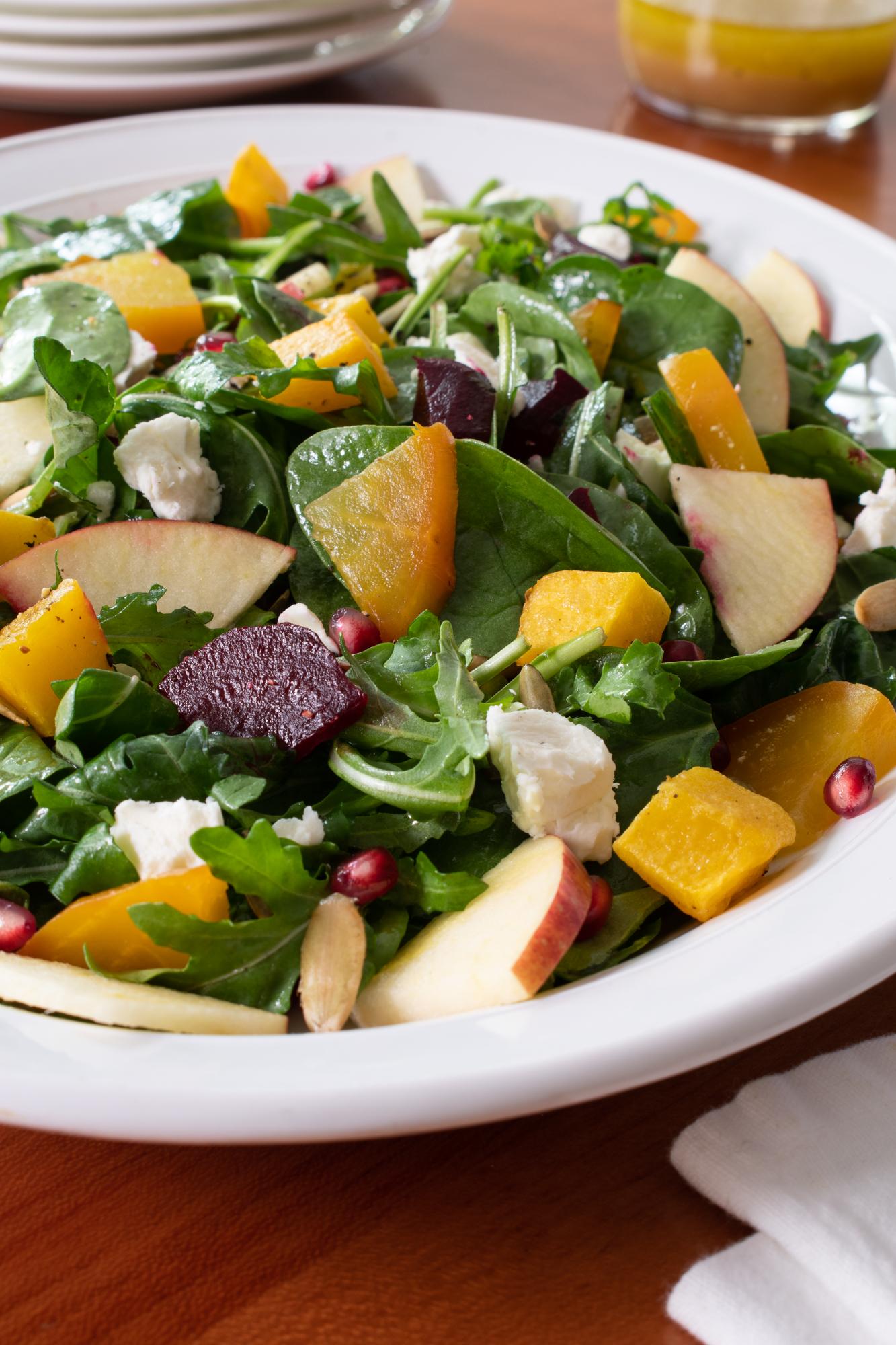 Fall Salad with Maple Dijon Vinaigrette